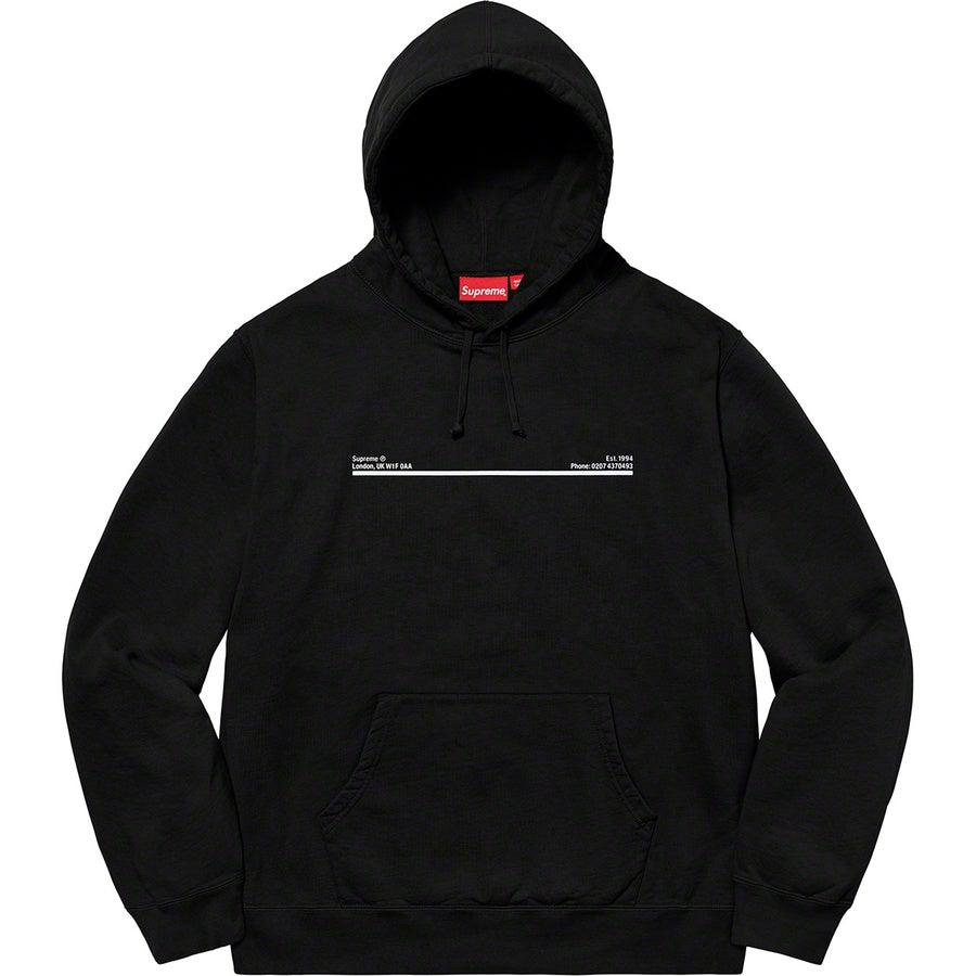Supreme Paris Shop Hooded Sweatshirt (Black) | Waves Never Die | Supreme | Hoodie