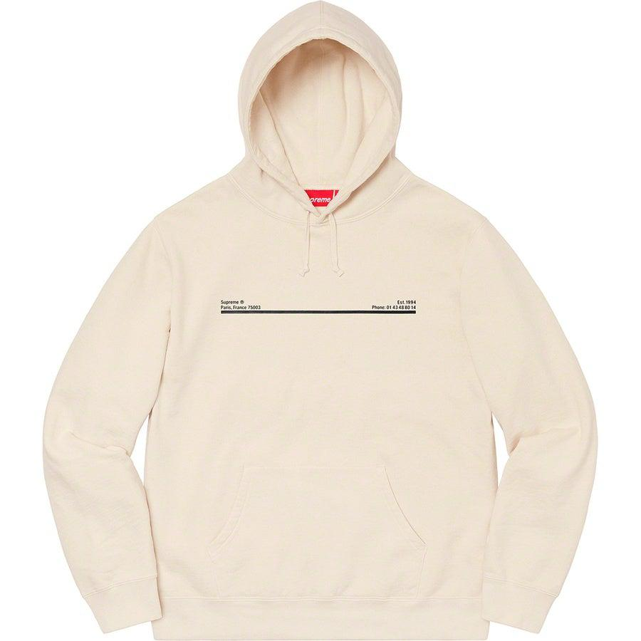 Supreme Paris Shop Hooded Sweatshirt (Natural) | Waves Never Die | Supreme | Hoodie