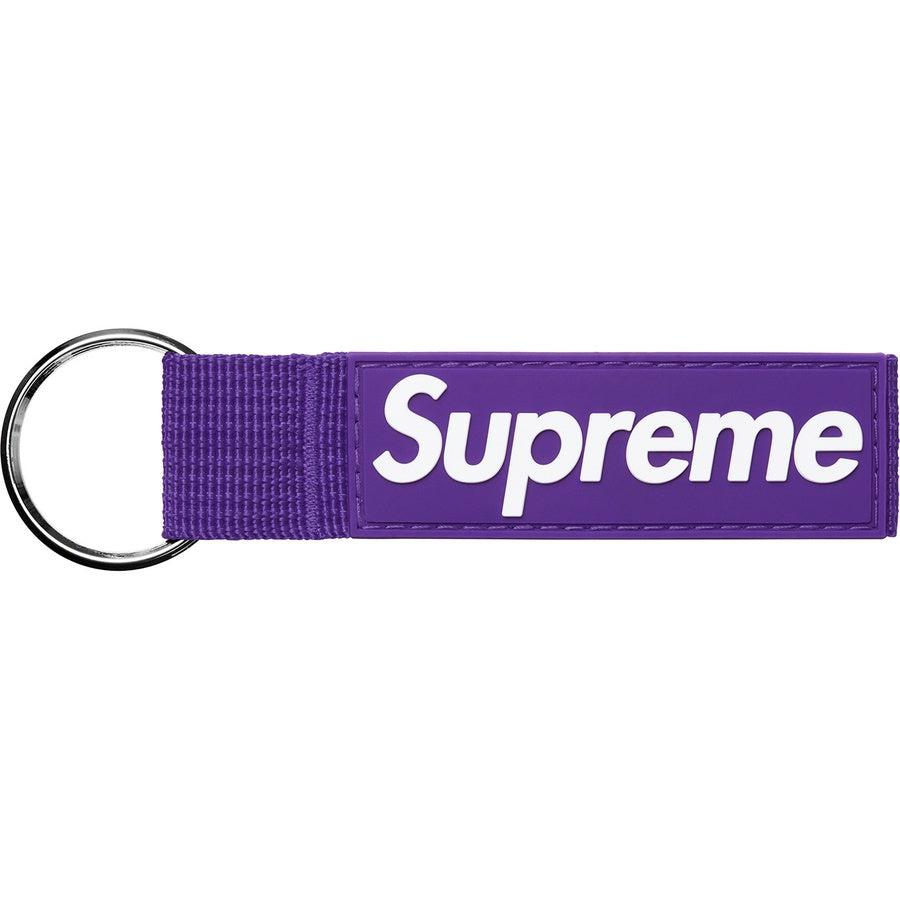 Supreme Webbing Keychain (Purple) | Waves Never Die | Supreme | Accessories