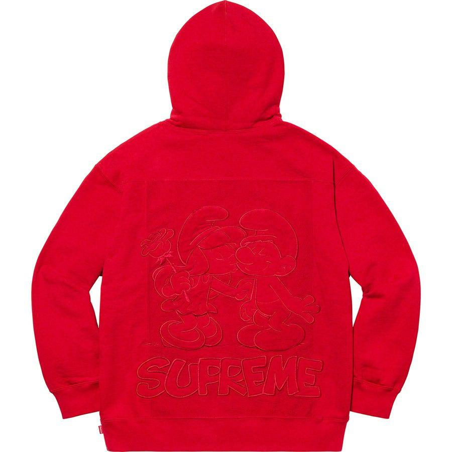 Supreme®/ Smurfs™ Hooded Sweatshirt (Red) | Waves Never Die | Supreme | Hoodie