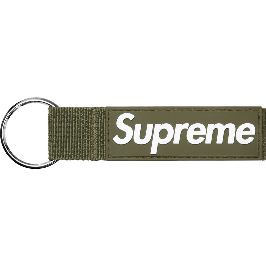 Supreme Webbing Keychain (Olive) | Waves Never Die | Supreme | Accessories