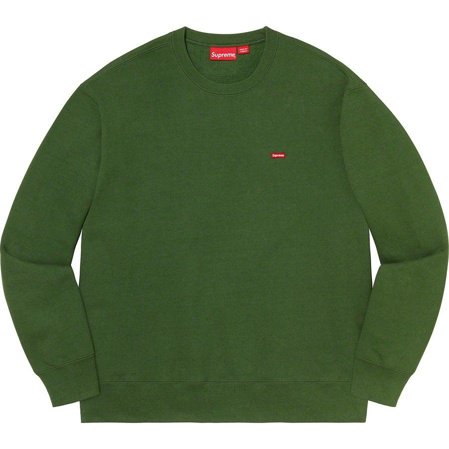 Supreme Small Box Crewneck (Green) | Waves Never Die | Supreme | Hoodie