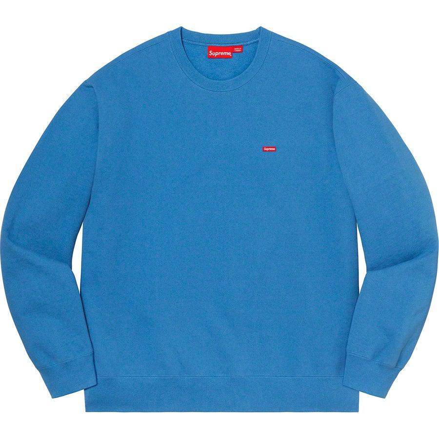 Supreme Small Box Crewneck (Pale Royal) | Waves Never Die | Supreme | Hoodie
