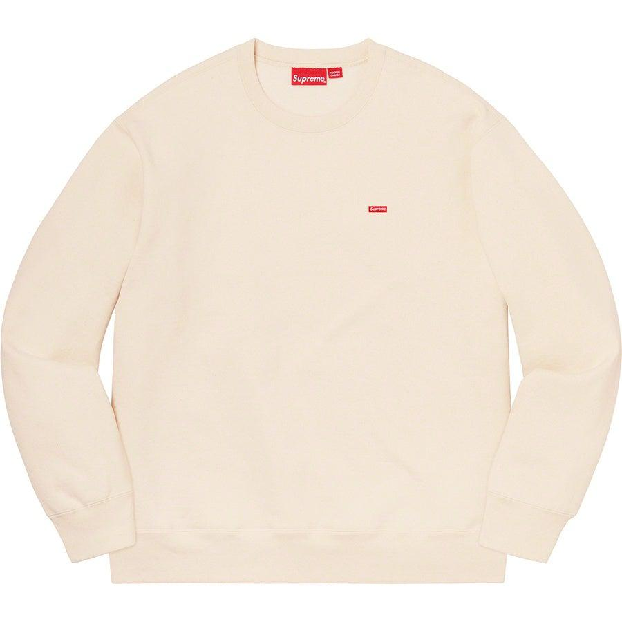 Supreme Small Box Crewneck (Natural) | Waves Never Die | Supreme | Hoodie
