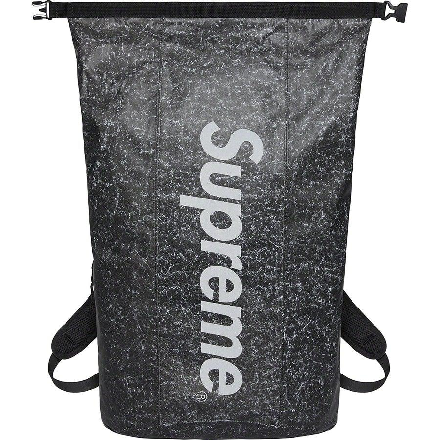 Supreme Waterproof Reflective Speckled Backpack (Black) | Waves Never Die | Supreme | Bag
