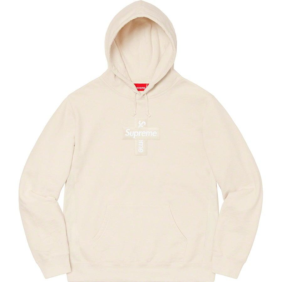 Supreme Cross Box Logo Hooded Sweatshirt (Natural) | Waves Never Die | Supreme | Hoodie