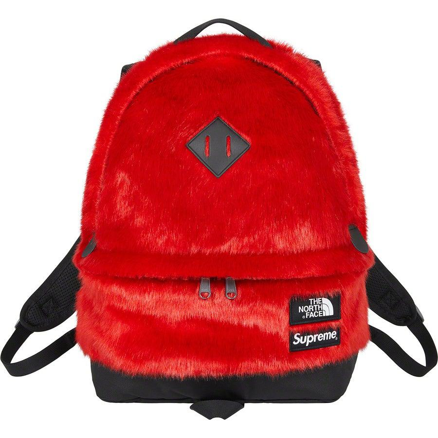 Supreme®/The North Face® Faux Fur Backpack (Red) | Waves Never Die | Supreme | Bag