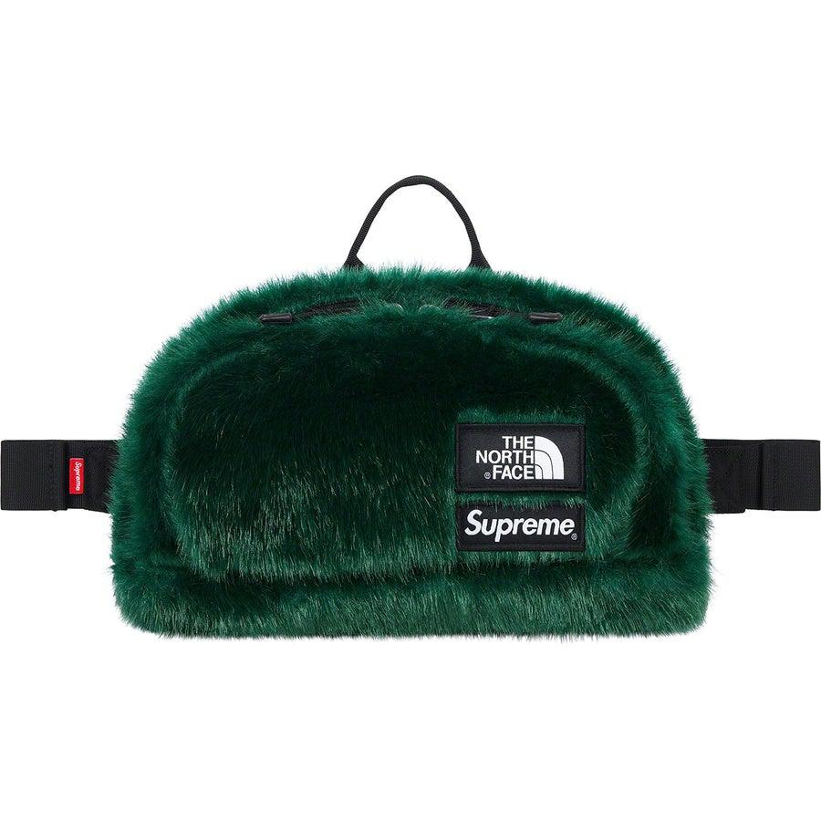 Supreme®/The North Face® Faux Fur Waist Bag (Green) | Waves Never Die | Supreme | Bag