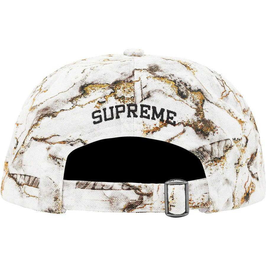 Supreme Marble 6-Panel (White) | Waves Never Die | Supreme | Hat