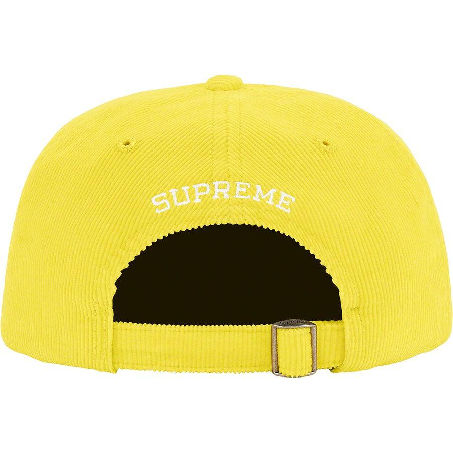 Supreme Fine Wale Corduroy S Logo 6-Panel (Yellow) | Waves Never Die | Supreme | Cap