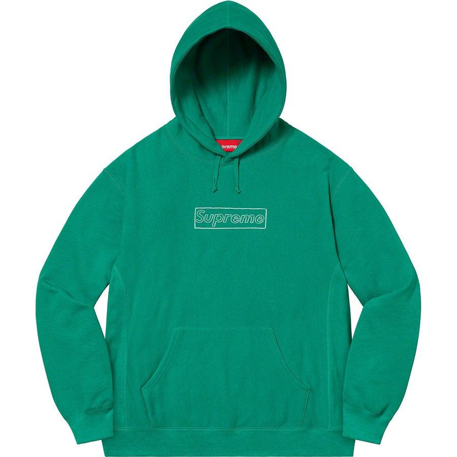 Supreme KAWS Chalk Logo Hooded Sweatshirt (Light Pine) | Waves Never Die | Supreme | Hoodie