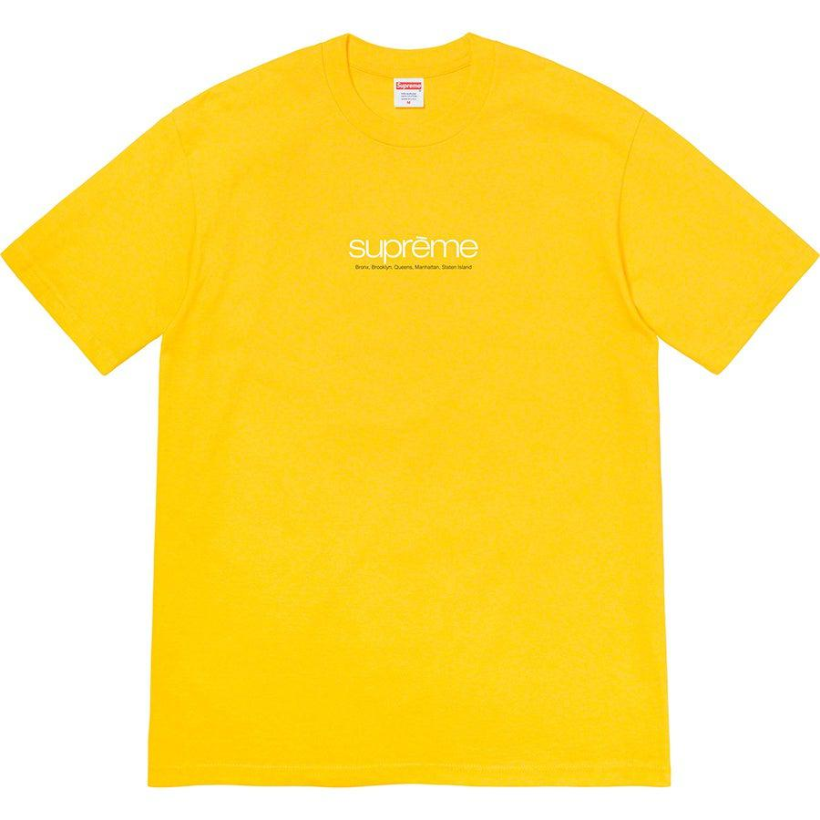 Supreme Five Boroughs Tee (yellow) | Waves Never Die | Supreme | T-Shirt
