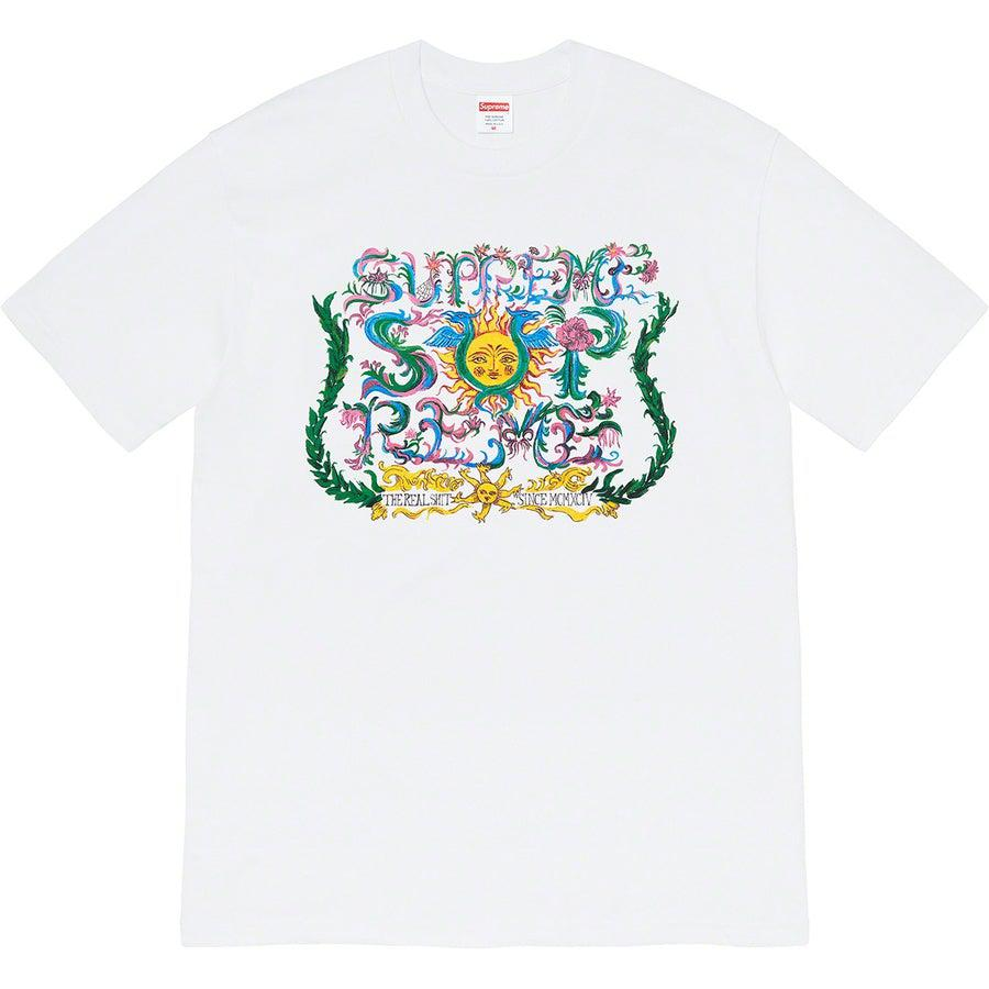 Supreme Crest tee (White) | Waves Never Die | Supreme | T-Shirt