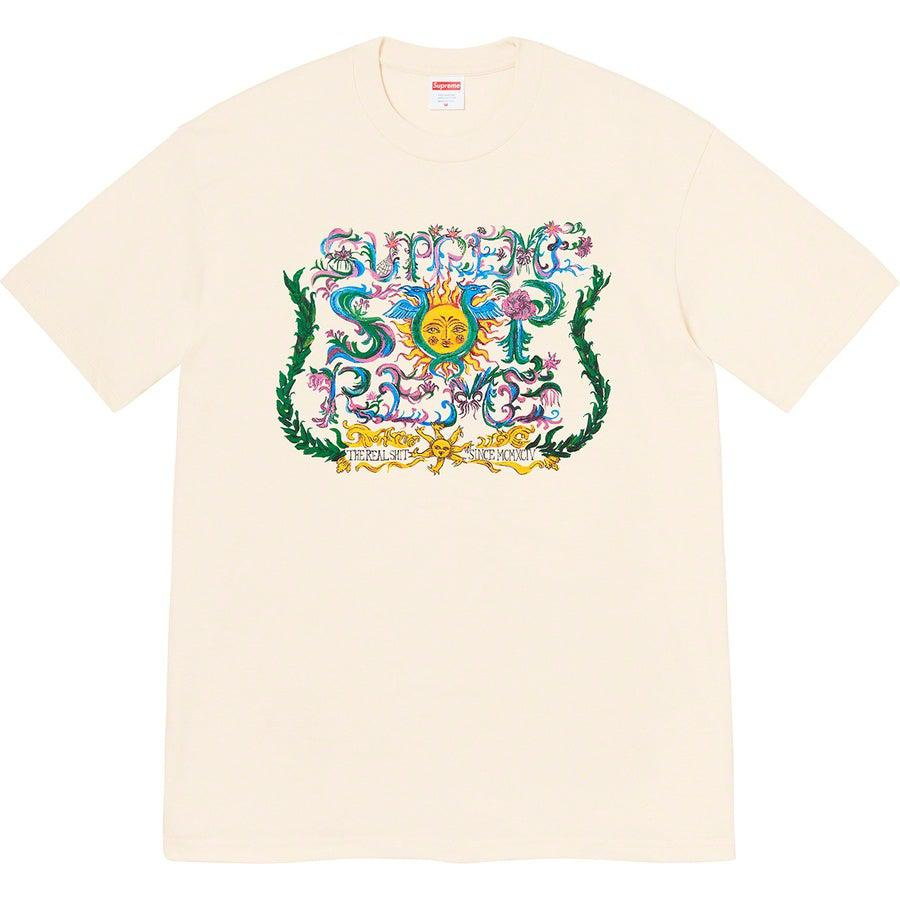 Supreme Crest tee (Natural) | Waves Never Die | Supreme | T-Shirt
