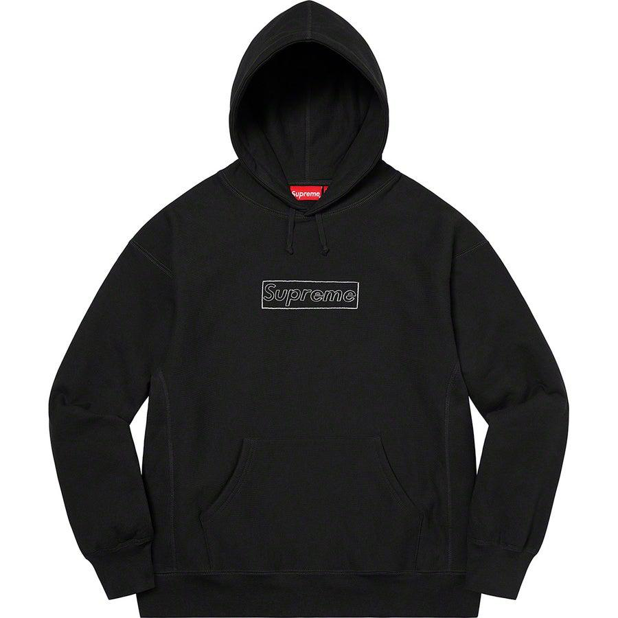 Supreme KAWS Chalk Logo Hooded Sweatshirt (Black) | Waves Never Die | Supreme | Hoodie