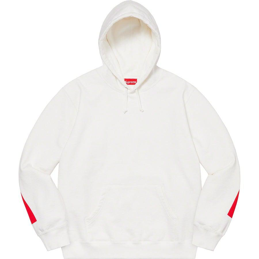 Supreme Big Logo Hooded Sweatshirt (White) | Waves Never Die | Supreme | Hoodie