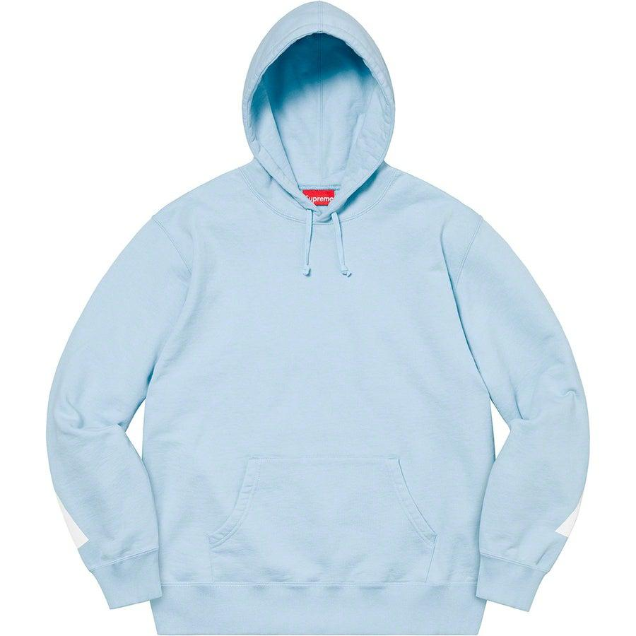 Supreme Big Logo Hooded Sweatshirt (Blue) | Waves Never Die | Supreme | Hoodie