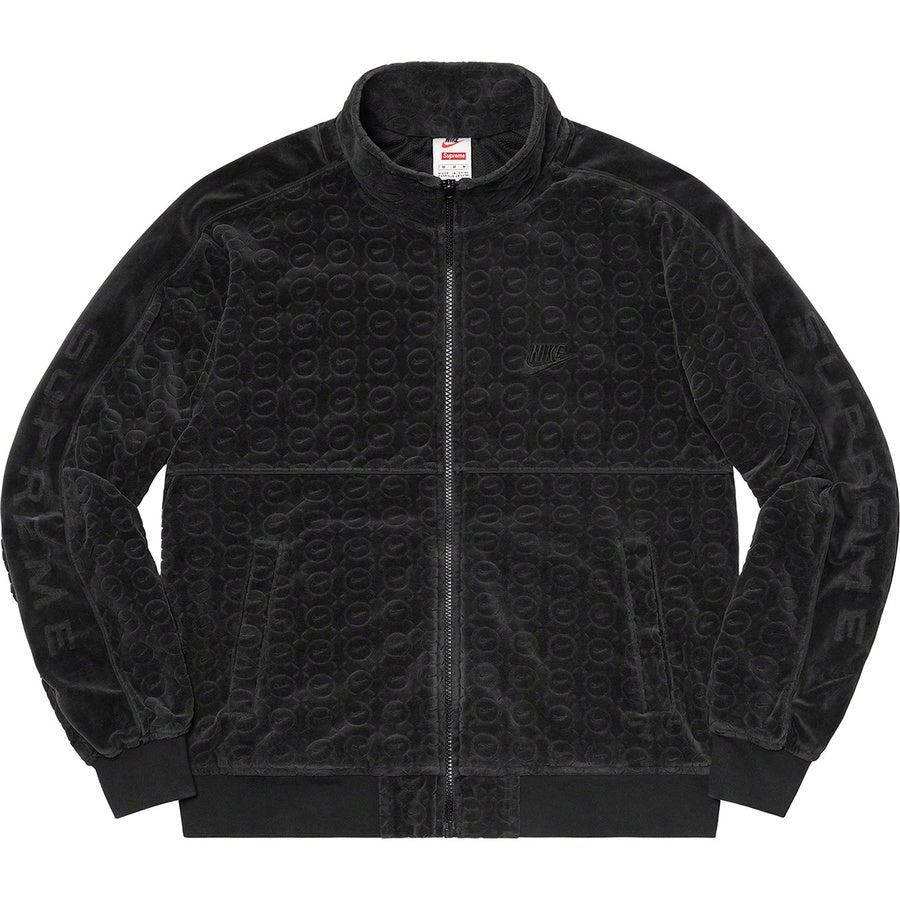 Supreme®/Nike® Velour Track Jacket (Black) | Waves Never Die | Supreme | Jacket