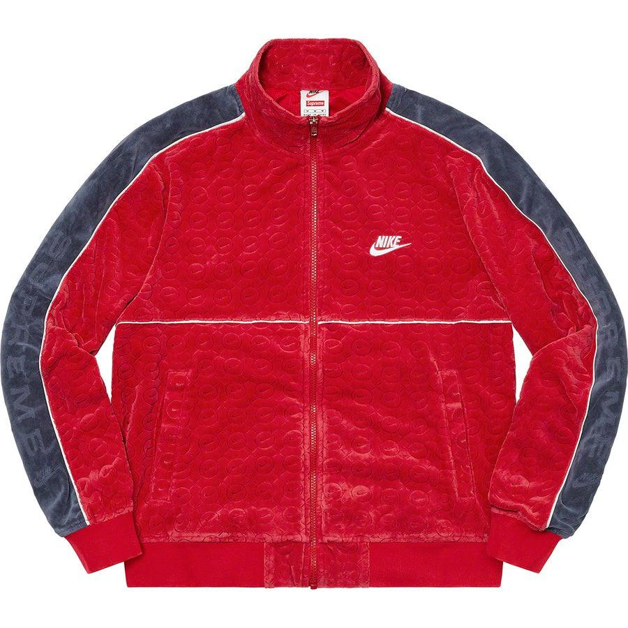 Supreme®/Nike® Velour Track Jacket (Red) | Waves Never Die | Supreme | Jacket