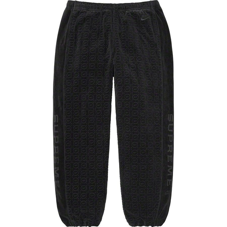 Supreme®/Nike® Velour Track Pant (Black) | Waves Never Die | Supreme | Pants