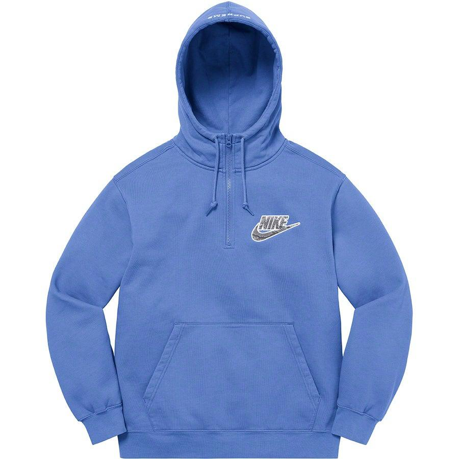 Supreme®/Nike® Half Zip Hooded Sweatshirt (Blue) | Waves Never Die | Supreme | Hoodie