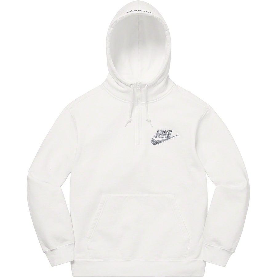 Supreme®/Nike® Half Zip Hooded Sweatshirt (White) | Waves Never Die | Supreme | Hoodie