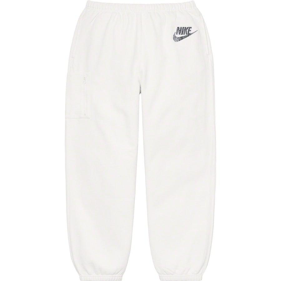Supreme®/ Nike® Cargo Sweatpant (White) | Waves Never Die | Supreme | Pants