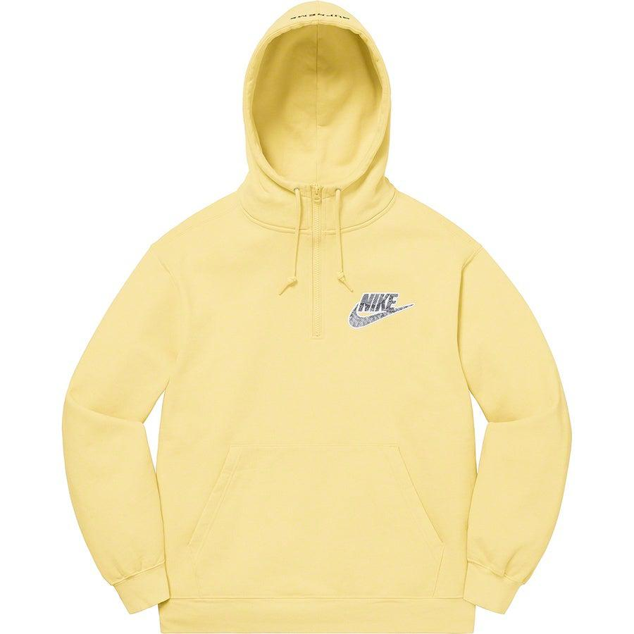 Supreme®/Nike® Half Zip Hooded Sweatshirt (Yellow) | Waves Never Die | Supreme | Hoodie
