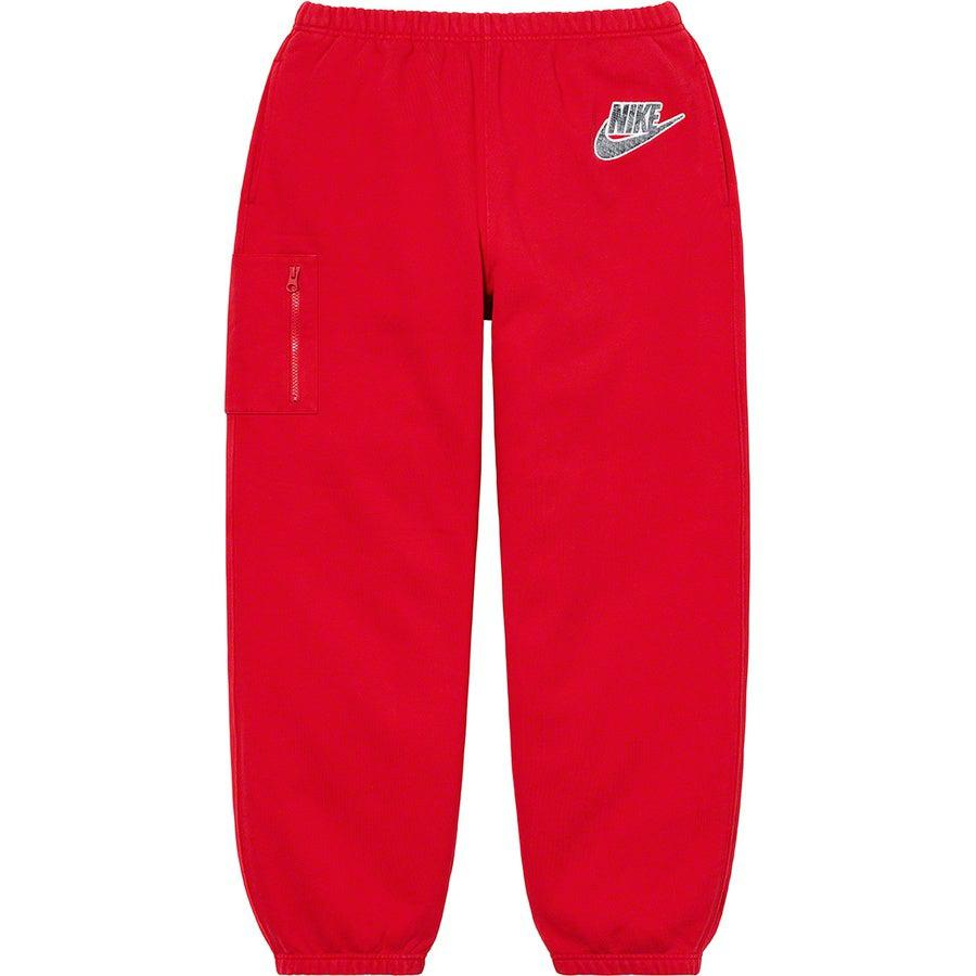 Supreme®/ Nike® Cargo Sweatpant (Red) | Waves Never Die | Supreme | Pants