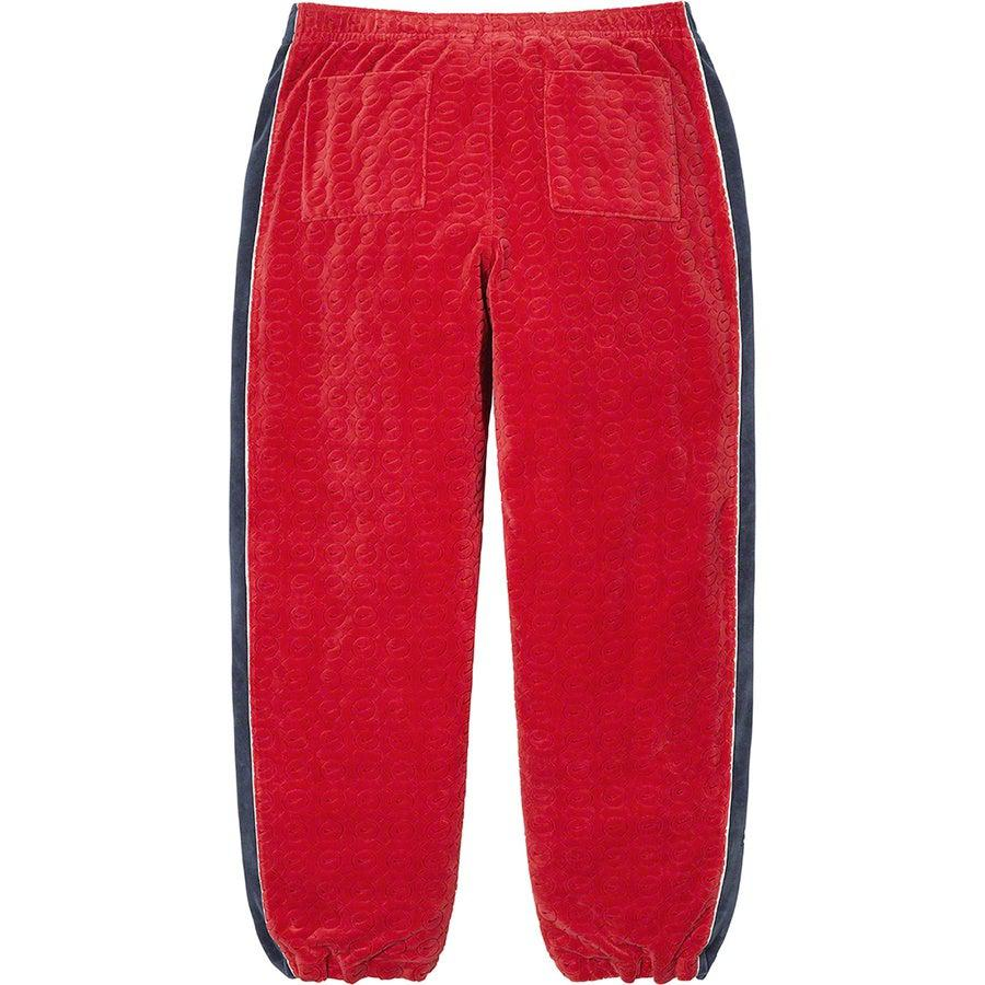 Supreme®/Nike® Velour Track Pant (Red) | Waves Never Die | Supreme | Pants