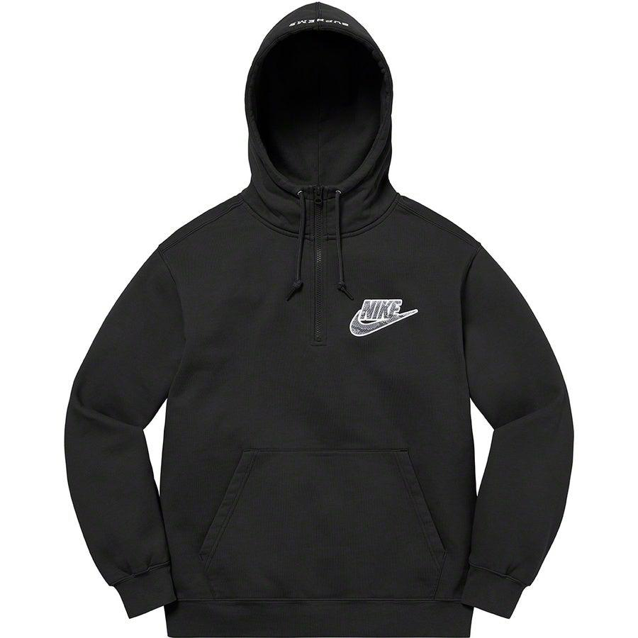 Supreme®/Nike® Half Zip Hooded Sweatshirt (Black) | Waves Never Die | Supreme | Hoodie