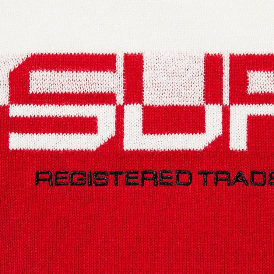 Supreme Split Logo Pullover (White) | Waves Never Die | Supreme | Crews and Sweaters