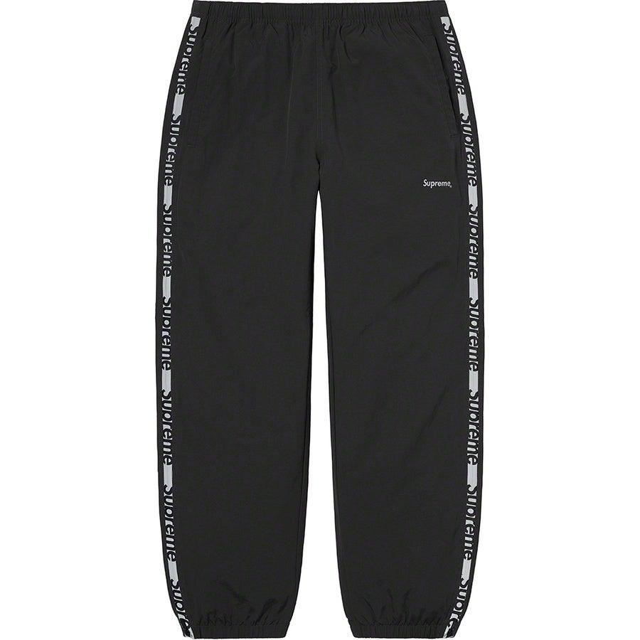 Supreme Reflective Zip Track Pant (Black) | Waves Never Die | Supreme | Pants