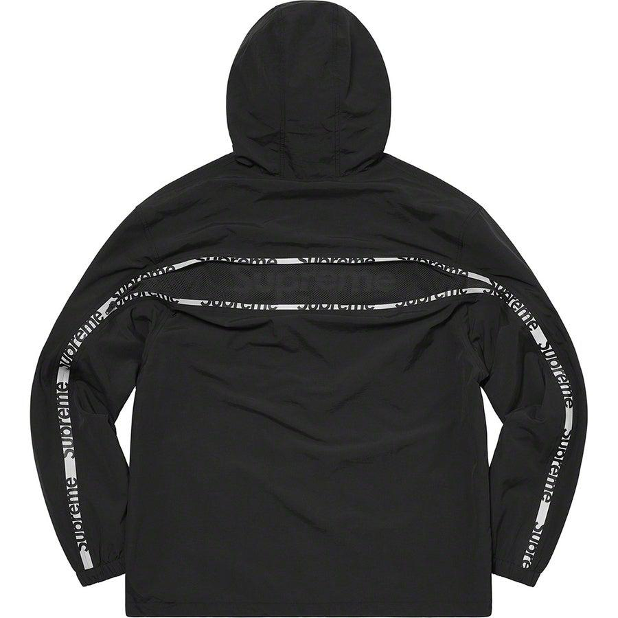 Supreme Reflective Zip Hooded Jacket (Black) | Waves Never Die | Supreme | Jacket