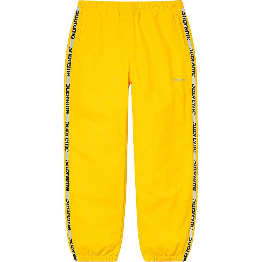 Supreme Reflective Zip Track Pant (Yellow) | Waves Never Die | Supreme | Pants