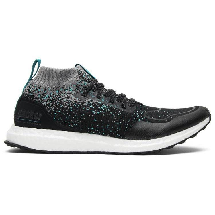 Adidas Solebox x Packer Shoes x UltraBoost Mid 'Core Black Energy Blue' - Waves Never Die