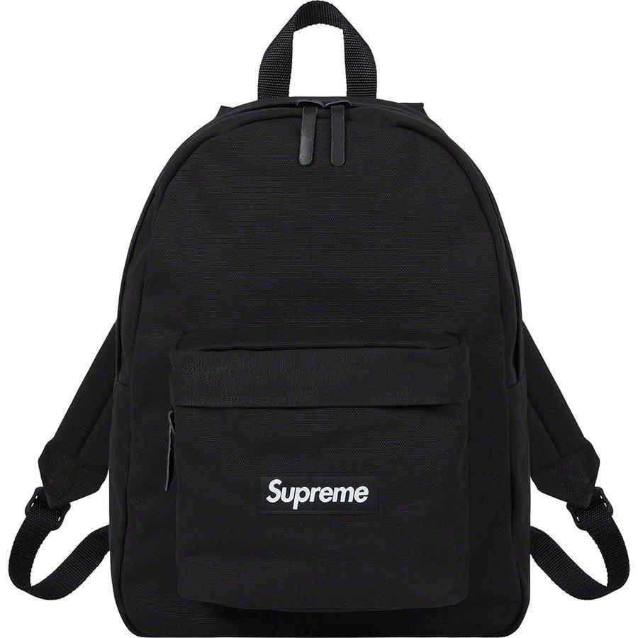 Supreme Canvas Backpack (Black) | Waves Never Die | Supreme | Bag