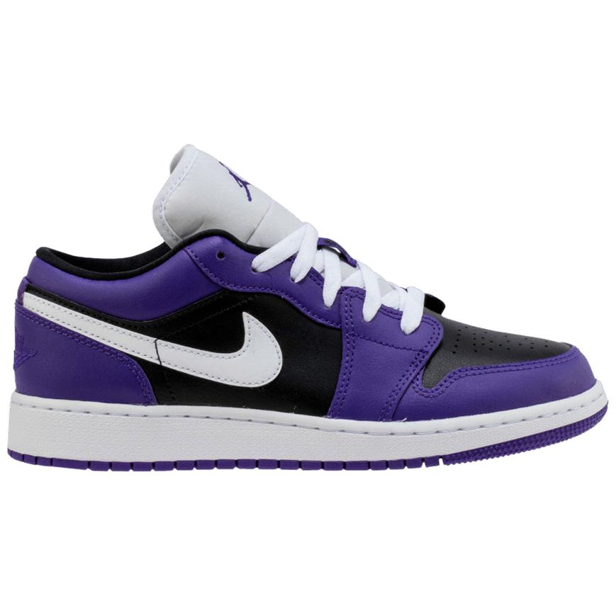 Nike Air Jordan 1 Low GS 'Black Court Purple' | Waves Never Die | Nike | Sneakers