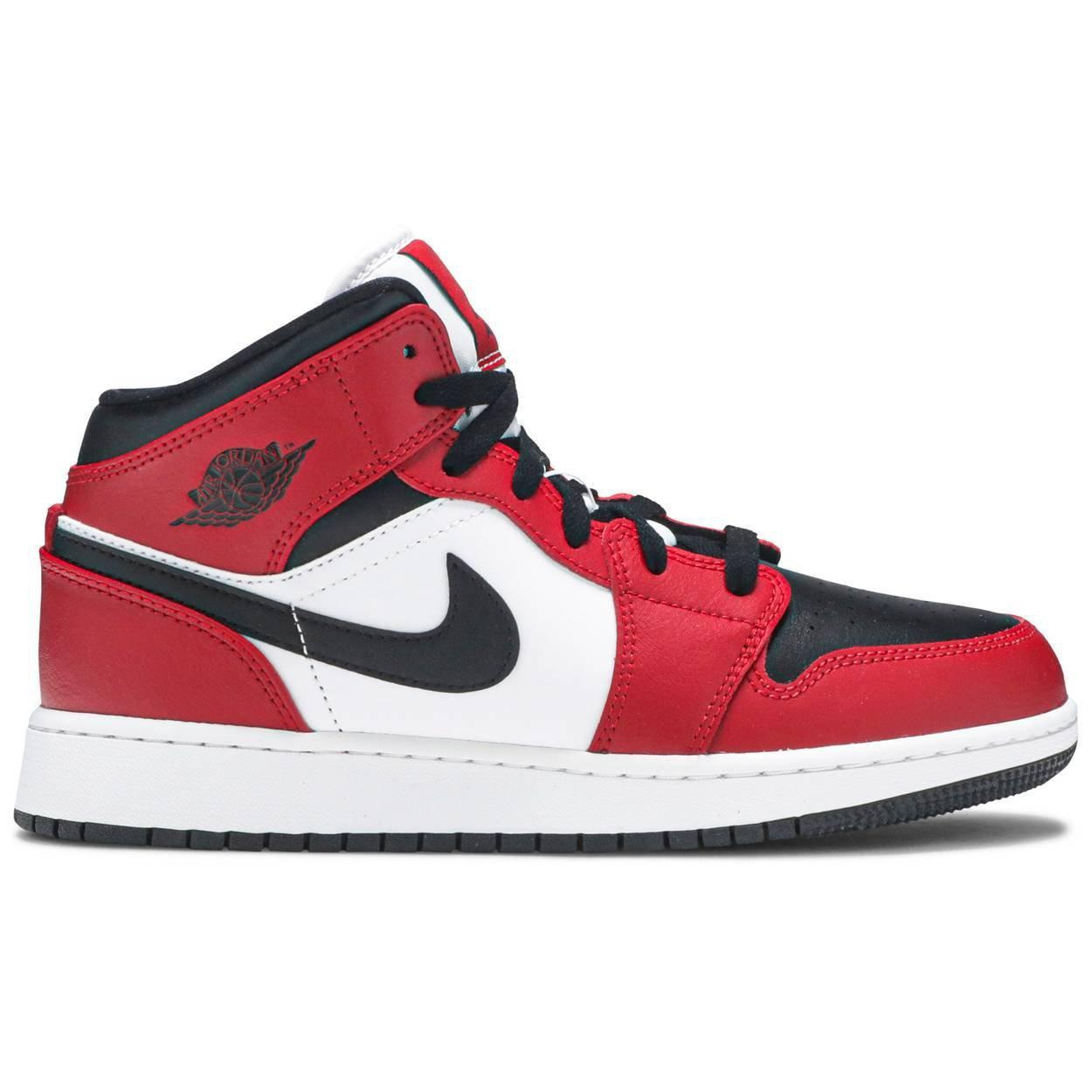 Nike Air Jordan 1 Mid GS 'Chicago Black Toe' | Waves Never Die | Nike | Sneakers