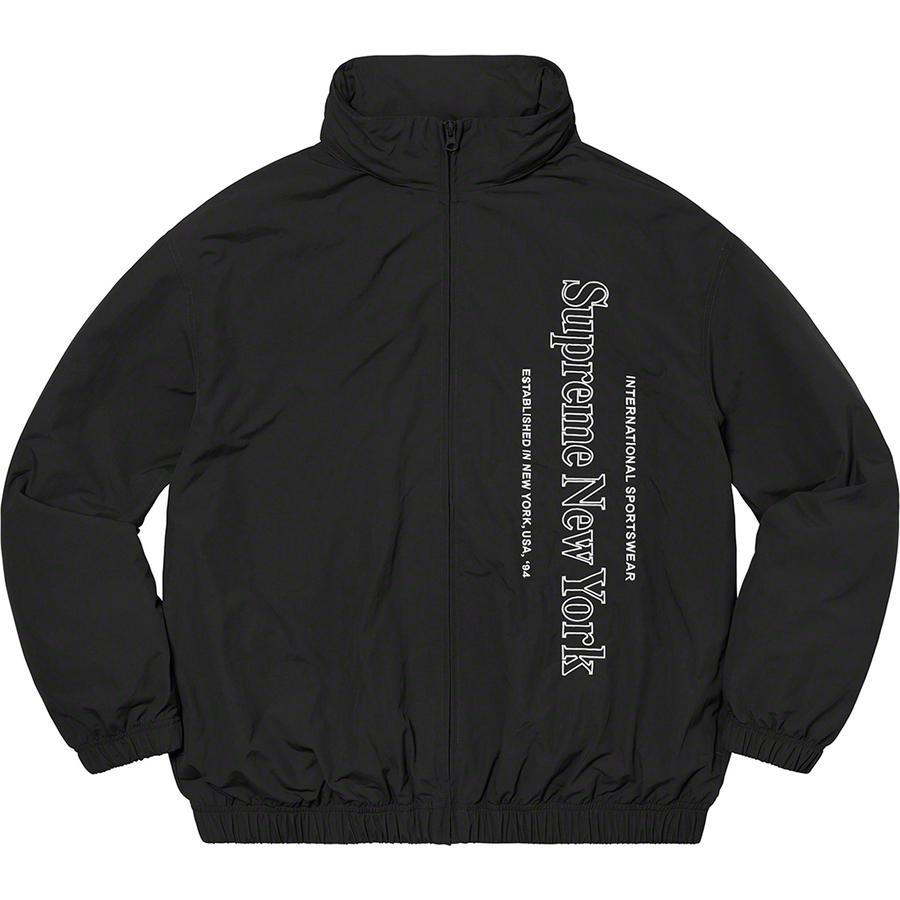 Supreme Side Logo Track Jacket (Black) | Waves Never Die | Supreme | Jacket