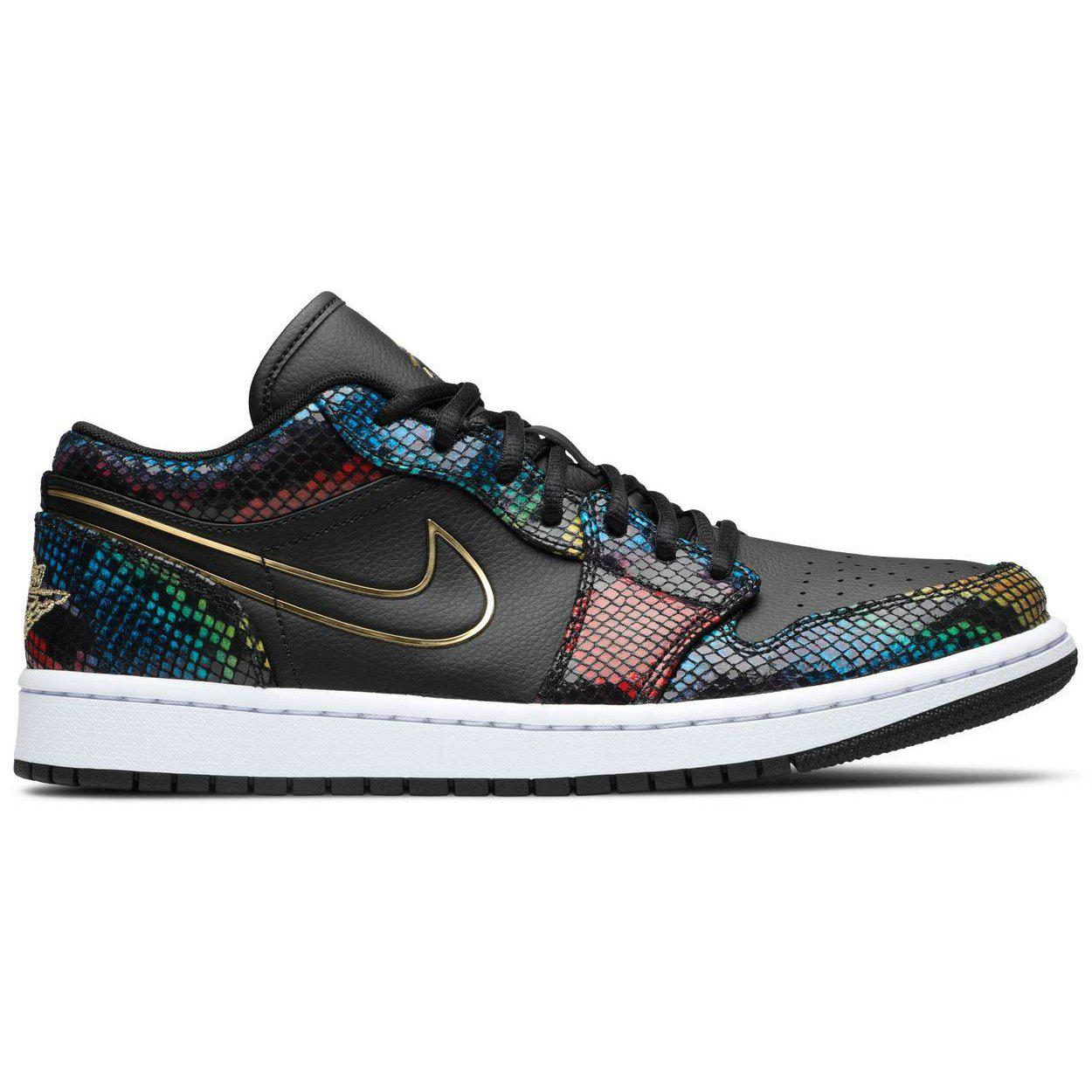 Nike Wmns Air Jordan 1 Low 'Multi Snakeskin' | Waves Never Die | Nike | Sneakers
