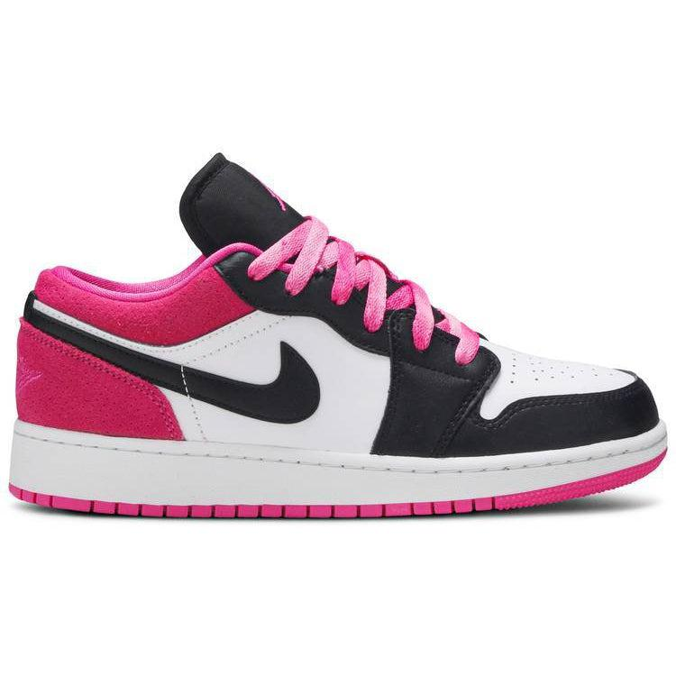 Nike Air Jordan 1 Low SE GS 'Black Active Fuchsia' | Waves Never Die | Nike | Sneakers