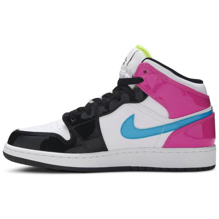 Nike Air Jordan 1 Mid SE GS 'Cyber Active Fuchsia' | Waves Never Die | Nike | Sneakers