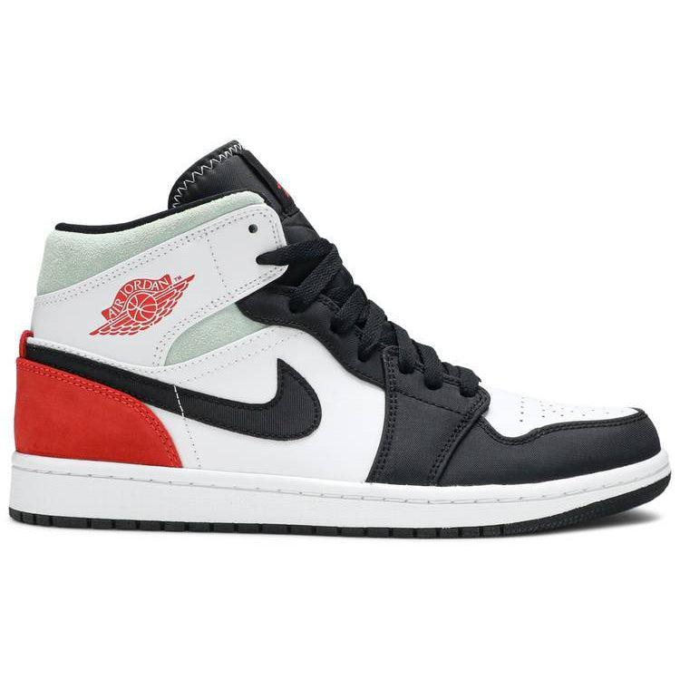 Nike Air Jordan 1 Mid SE 'Red Black Toe' | Waves Never Die | Nike | Sneakers