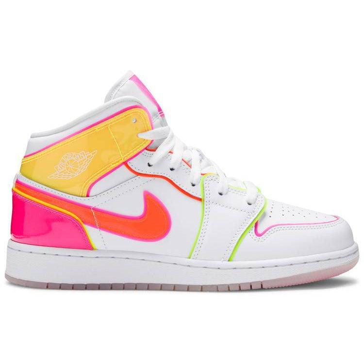Nike Air Jordan 1 Mid SE GS 'Edge Glow' | Waves Never Die | Nike | Sneakers