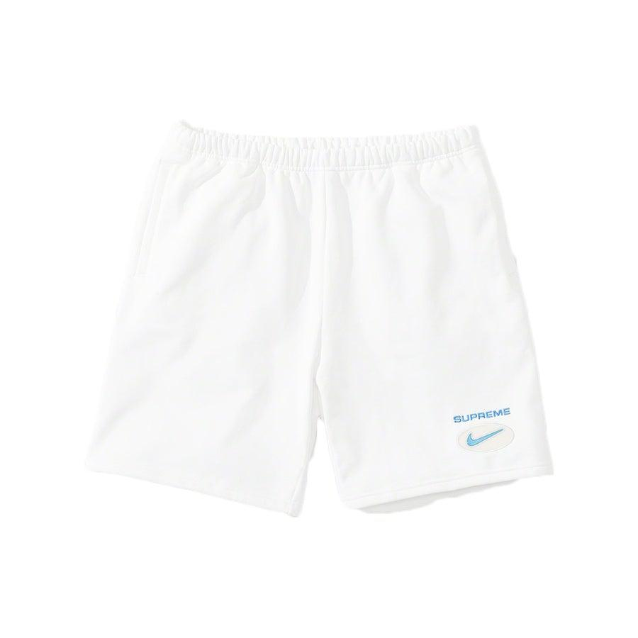 Supreme®/Nike® Jewel Sweatshort (White) | Waves Never Die | Supreme | Shorts