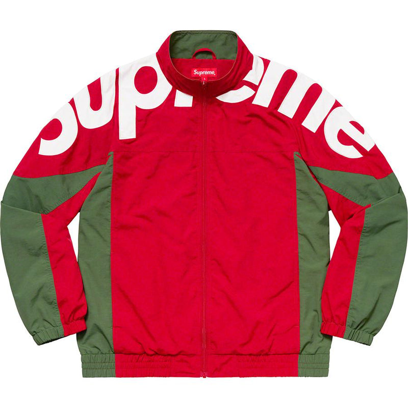 Supreme Shoulder Logo Jacket (Red) | Waves Never Die | Waves Never Die