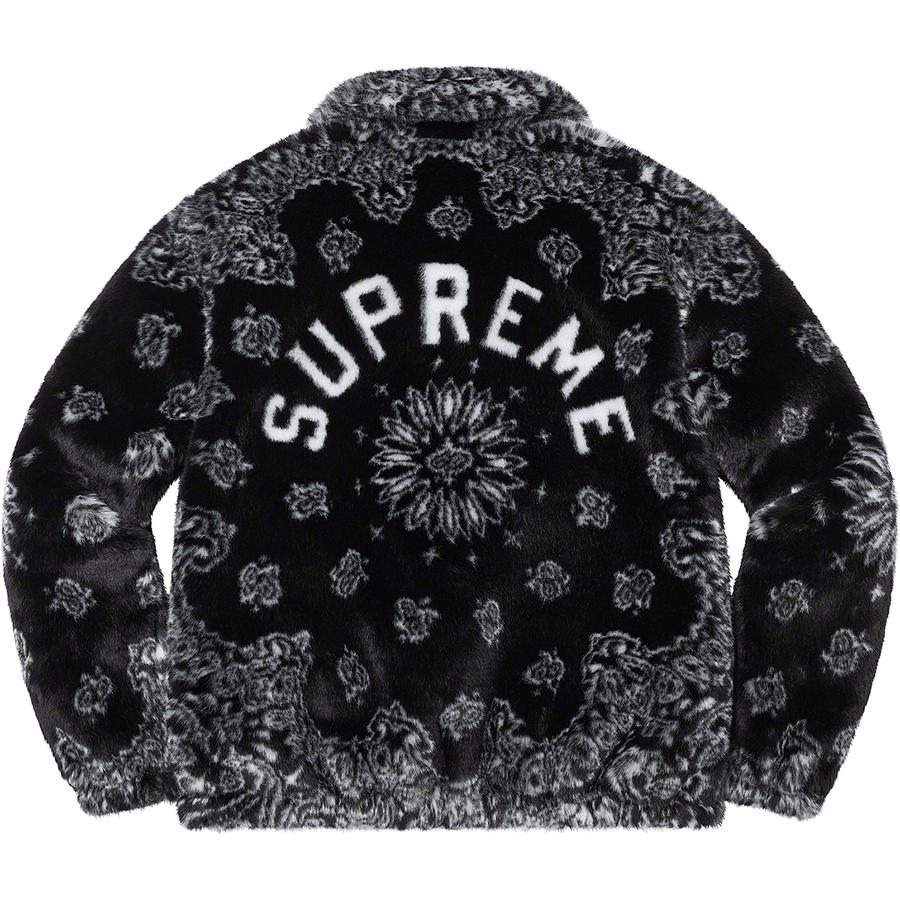Supreme Bandana Faux Fur Bomber Jacket (Black) | Waves Never Die | Supreme | Jacket
