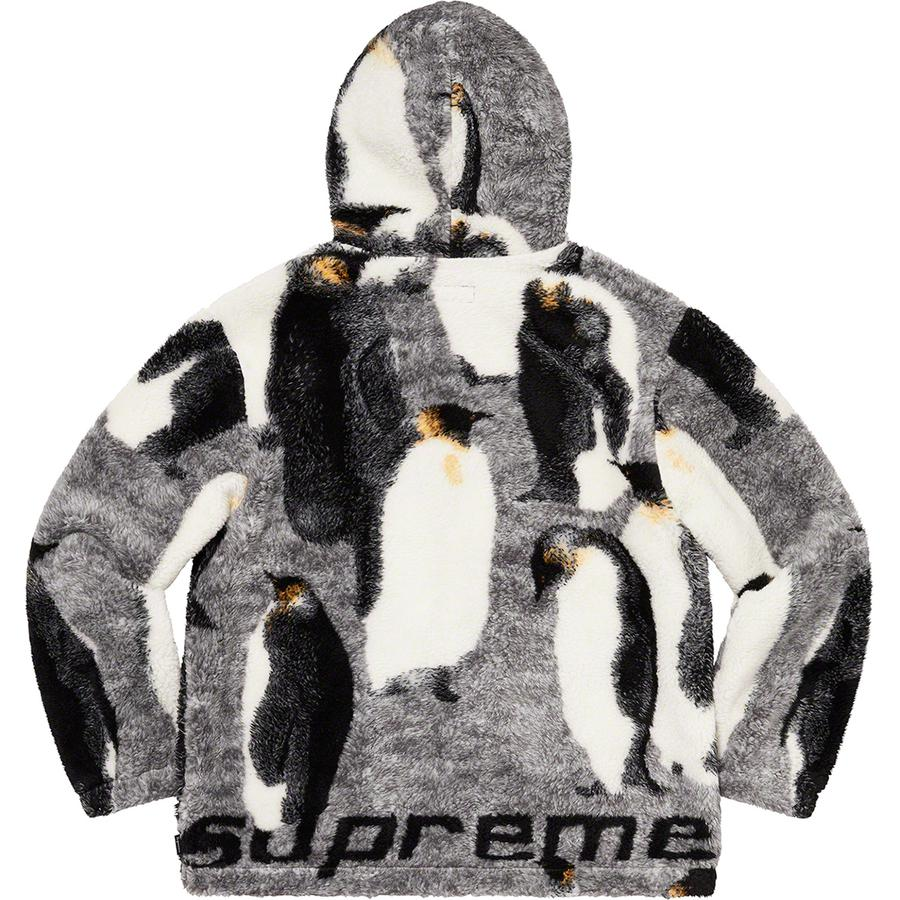 Supreme Penguins Hooded Fleece Jacket (Black) | Waves Never Die | Supreme | Jacket