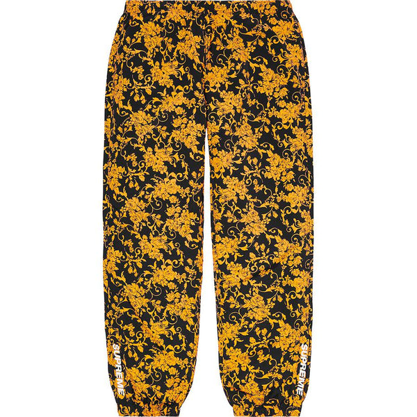 Supreme Warm up Pants (Black Floral) | Waves Never Die | Supreme | Pants